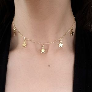 Jewelry - Gold 5 Star Choker Necklace